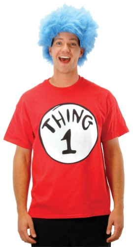 All About Holidays » THING ONE TSHIRT LARGE WITH WIG 6a112f69b0a6